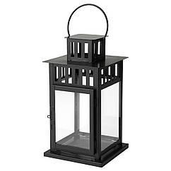 BORRBY Фонарь для формовой свечи, черный д/дома/улицы черный 101.561.09
