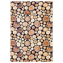 MARGARETA Ткань, бревно, белый/коричневый 802.408.07