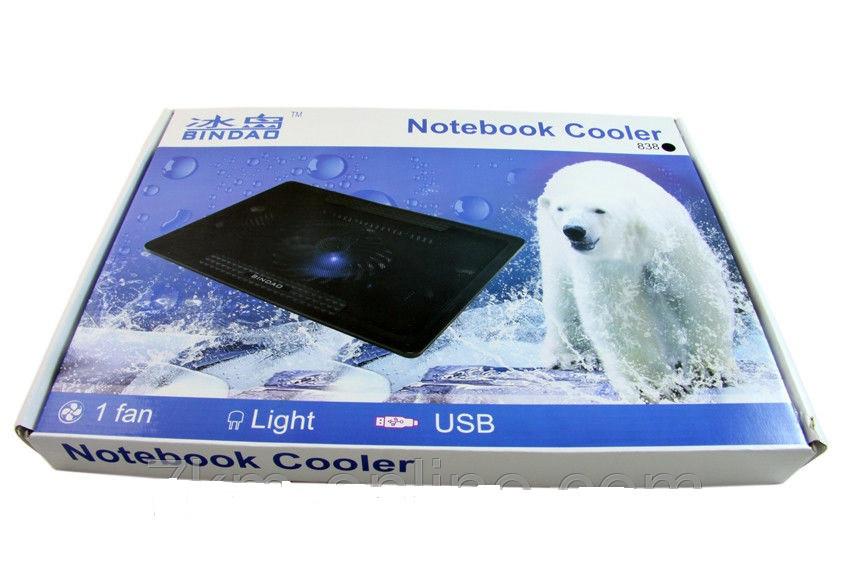 Охлаждающая подставка для ноутбука Bindao 838
