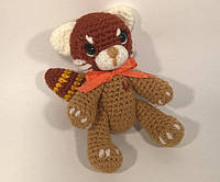 """Вязанная игрушка амигуруми """"Пандочка или Мишка с сердечком"""", Handmade, ручная работа"""