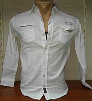 Детская рубашка белая с длинным рукавом