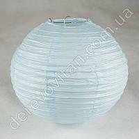 Бумажный подвесной фонарик, светло-голубой, 30 см
