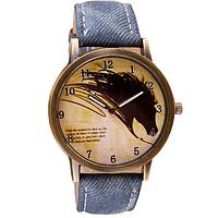 Часы женские наручные Конь синие арт. 074