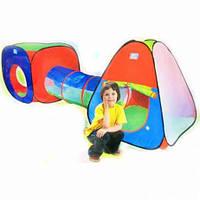 Детская палатка тоннель с переходом