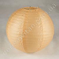 Бумажный подвесной фонарик, персиковый, 30 см