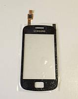 Сенсорное стекло для SAMSUNG S6500 Galaxy Mini 2 чёрное оригинал (TW)