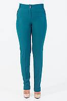 Классические женские брюки с манжетами цвета бутылка