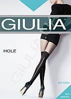 Колготки женские с имитацией ботфортов с тонкой вертикальной просечкой сзади HOLE 60 (4) от тм Giulia