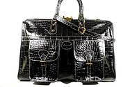 Кожаный мужской дорожный саквояж, сумка Desisan 708 черная