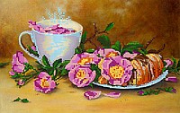 Схема для вышивки бисером POINT ART Круассан, размер 30х19 см