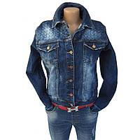 Женская куртка жакет джинсовый