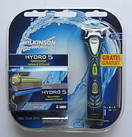 Набор бритвенный  станок Wilkinson Sword HYDRO 5 GROOMER + 4 картриджа  HYDRO 5 GROOMER производство Германия