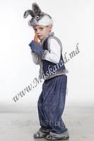 Карнавальный костюм Зайчик серый, костюм Зайца, Зайчика, Зайки, Зайчонка, Кролика, Русак
