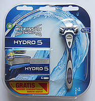 Набор бритвенный станок  Wilkinson Sword  HYDRO 5 +4 картриджа HYDRO 5    производство Германия