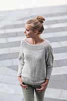 Красивый, практичный женский вязаный свитер р.44-46
