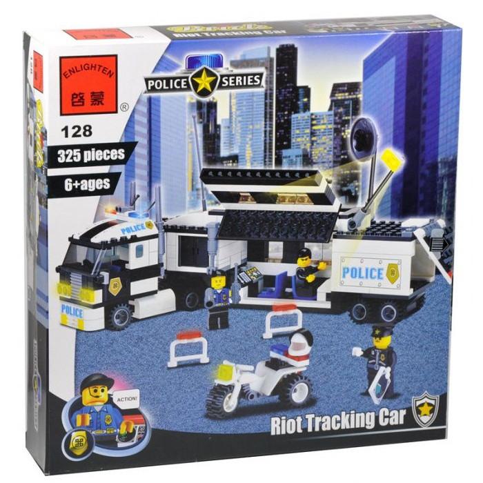 Конструктор Brick 128 Полицейский фургон 325 деталей