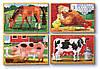 Тварини на фермі - набір з 4 пазлів, Melissa&Doug