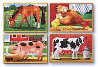 Животные на ферме - набор из 4 пазлов, Melissa&Doug