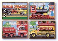 Транспорт - набір з 4 пазлів, Melissa&Doug, фото 1