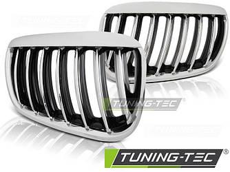 Решетка радиатора ноздри тюнинг BMW X5 E53 рестайл хром