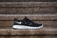 Женские кроссовки Nike Free Run Black White