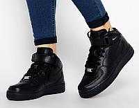 Женские кроссовки Nike Air Force High Black