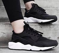 Женские кроссовки Nike Air Huarache Black White