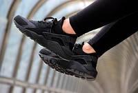 Женские кроссовки Nike Air Huarache Full Black