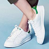 Женские кроссовки Adidas Stan Smith J 'White/Green'