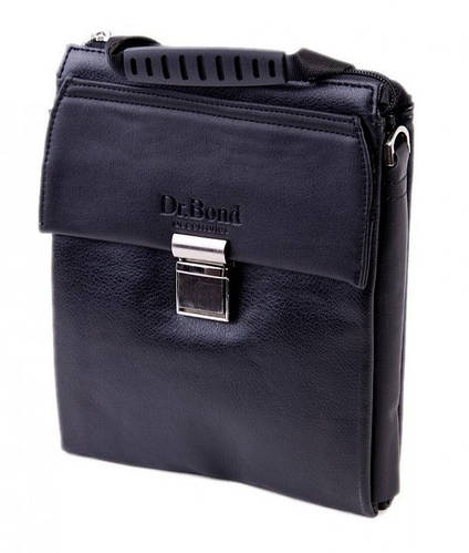 Мужская сумка-планшетка из искусственной кожи dr.Bond 8875-1 black черный