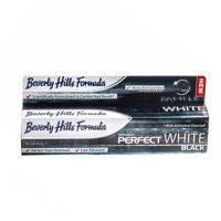 Зубная паста Perfect White Black отбеливающая для курильщиков Beverly Hills Formula, 100 мл