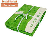 Женский набор в сауну Petek La Bella Махра зеленый