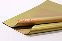 Металлизированная двухцветная бумага Тишью Италия - Золото & Бронза №Z-8012