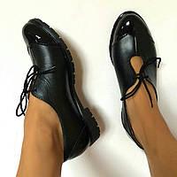 Классика жанра.Женские кожаные туфли от TroisRois из натуральной кожи и лака.