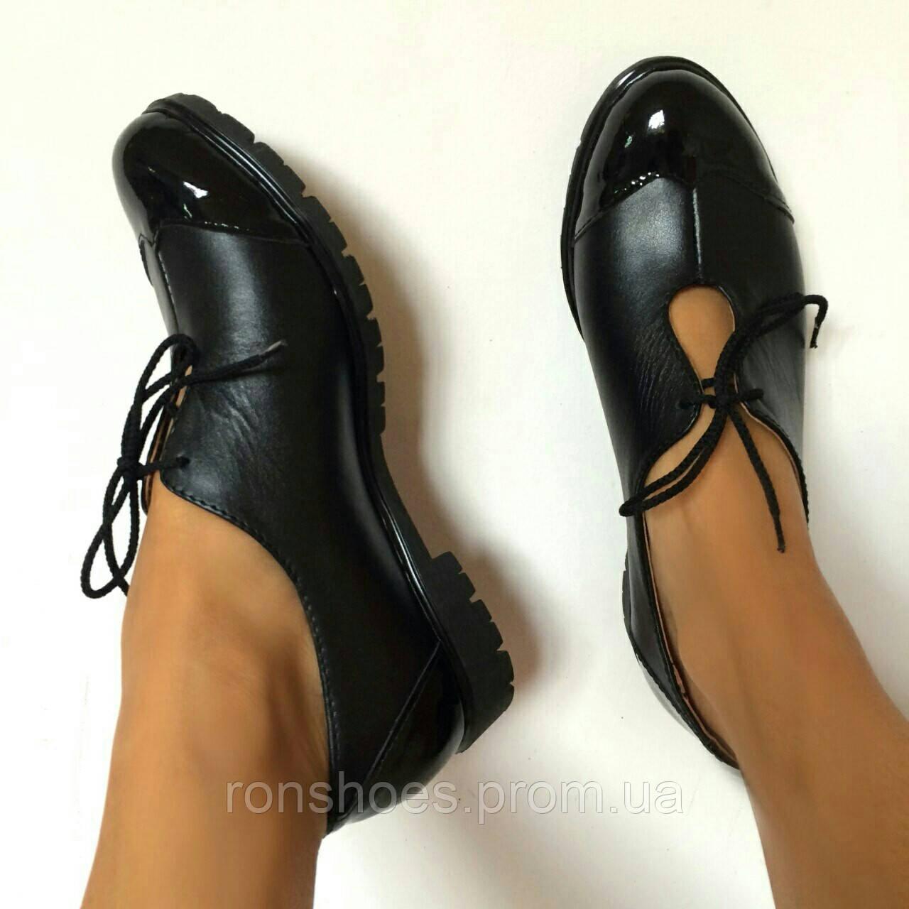 Купить Классика жанра.Женские кожаные туфли от TroisRois из натуральной  кожи и лака. в ... 13dfcb510d3