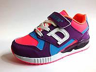Светящиеся кроссовки для девочки р 26-30