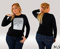 Гольф женский большого размера накат Студио черный