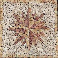 Imso мозаика Imso Ceramiche Pietre Naturali 66х66 rosone parma