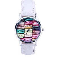 Часы женские наручные Макаруны белые арт. 075