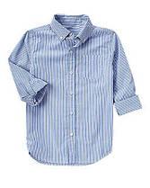Рубашка в голубую полоску с длинным рукавом на мальчика Хлопок-поплин 100% Crazy8 (США)