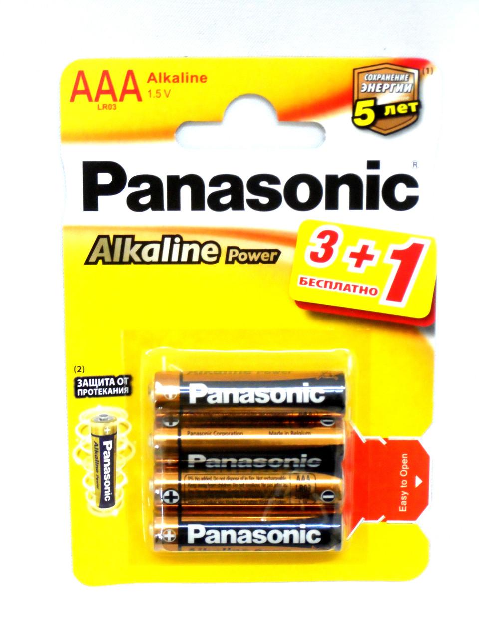 Батарейка PANASONIC LR03 Alkaline Power 1x4