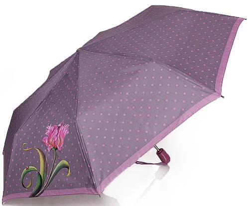 Зонт женский в горошек автомат AIRTON Z3911-5175 цвет фиолетовый. Антиветер!