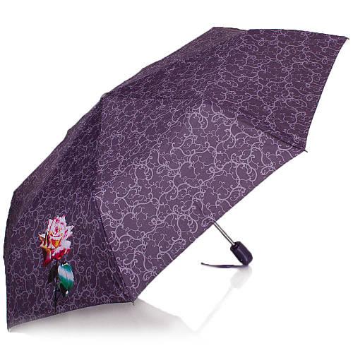 Зонт женский модный, автомат AIRTON Z3911-5179, цвет фиолетовый. Антиветер!