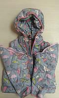 Куртка-жилет демисезонная для девочки (зонтики)