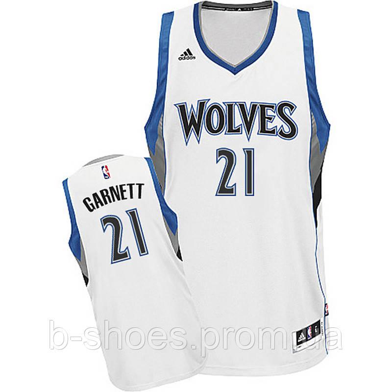Мужская баскетбольная майка Minnesota Timberwolves (Kevin Garnett) White