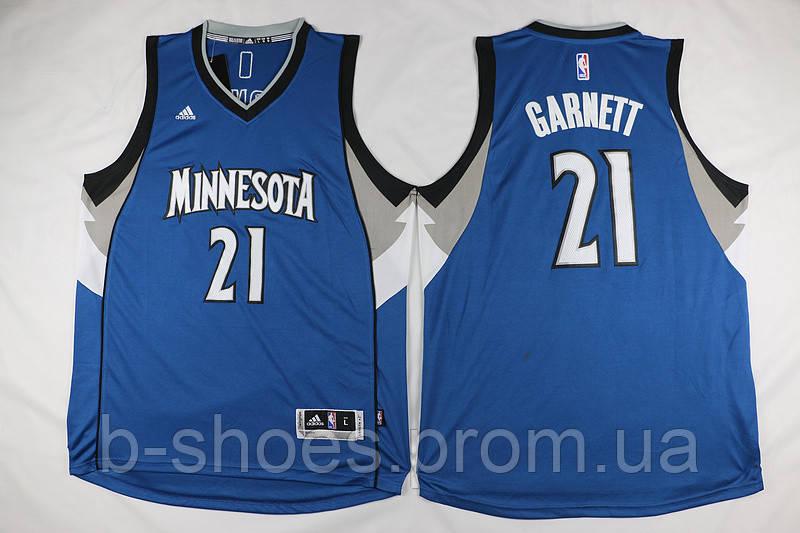 Мужская баскетбольная майка Minnesota Timberwolves (Kevin Garnett) Blue
