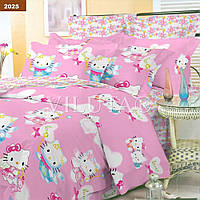 Подростковый комплект постельного белья Viluta ткань Ранфорс платинум Hello Kitty хэллоу китти