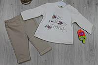 Детский костюм на девочку длинный рукав, материал велюр футер, возраст 6м, 24м тм BONNE B