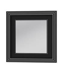 Зеркало Botticelli Treviso ТM -80 чёрное, патина серебро, 800х800 мм
