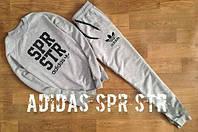 Спортивный костюм адидас, серый, spr str, реглан, прикольный, ф660